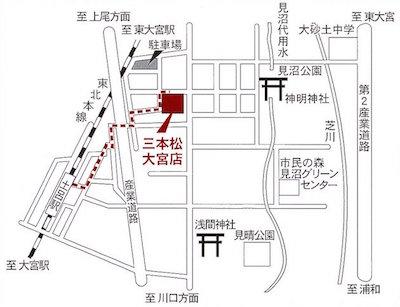 趣味の店 三本松 大宮店の地図